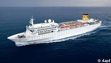 An undated picture made available by the Costa Crociere press office showing the Costa Allegra cruise ship. The Italian coast guard says a fire has broken out on an the Costa Allegra cruise ship off the Seychelles islands, Monday, Feb. 27, 2012, and the ship is adrift, but the passengers are safe. The ship owner Costa Crociere says in a statement there were no injuries or casualties among the 636 passengers and 413 crew members. (Foto:Costa Crociere/AP/dapd) Eingestellt von: det