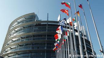 Foto vom Gebäude des EU-Parlaments in Straßburg (Foto: dpa)
