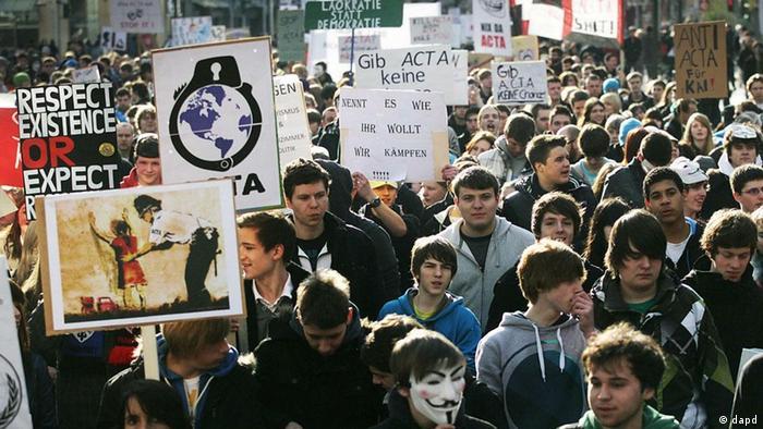 Demonstration Frankfurt am Main Kundgebung gegen ACTA