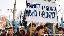 Bosnien-Herzegowina Dayton Demonstration Sarajevo