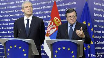 EU Serbien Tadic Barroso Brüssel Pressekonferenz PK