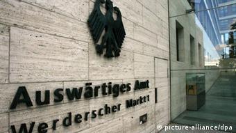 Der Eingangsbereich des Auswärtigen Amtes in Berlin Foto: Tim Brakemeier (dpa)