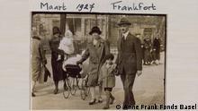 Edith und Otto Frank mit den Kindern Anne und Margot