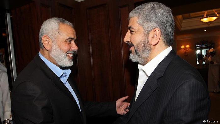 خالد مشعل و اسماعیل هنیه، رهبران حماس