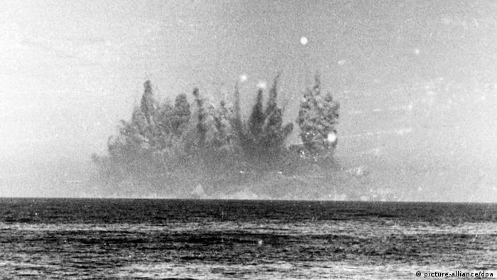 Sprengung Helgoland (Foto: dpa)