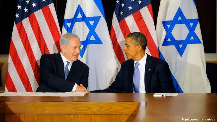 President Barack Obama met with Israeli Prime Minister Benjamin Netanyahu on the sideline of the 66th session of the United Nations General Assembly in New York, New York 21 September 2011 (EPA/AARON SHOWALTER / POOL).