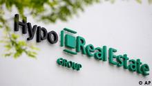 Das Logo des Immobilienfinanzierers Hypo Real Estate HRE
