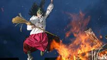 Maibräuche Walpurgisnacht im Harz Springende Hexe