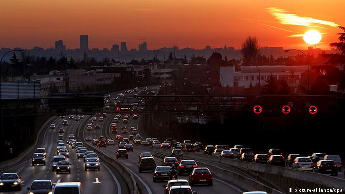 A view of Madrid's A-6 highway as air pollution in the Spanish capital reaches critical levels Copyright: JUAN CARLOS HIDALGO/EPA