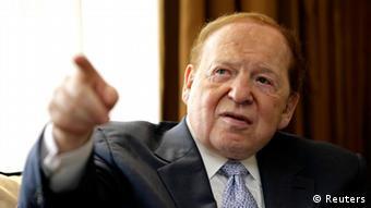 Sheldon Adelson, Großspender der Republikanischen Partei USA