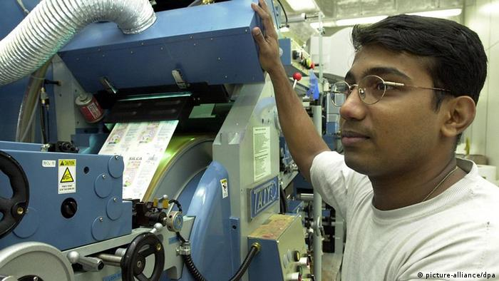 Jindam Shrikant from India, a skilled worker in Dresden
