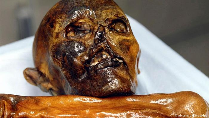 Ötzi the Iceman is a 5,300-year-old mummy found in a glacier