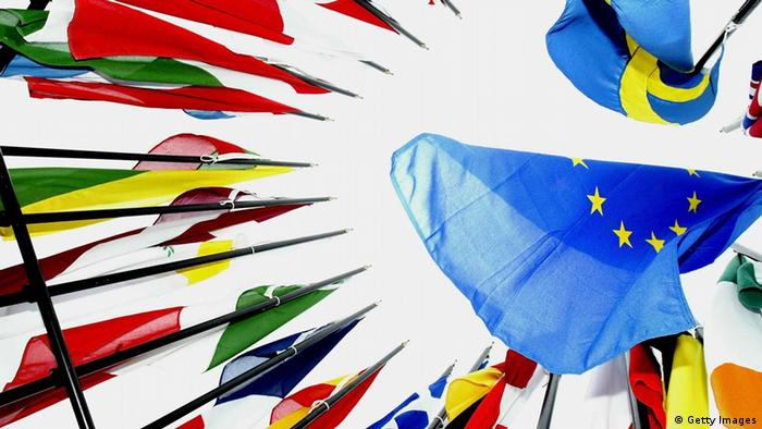 Flags of the European Union countries (Photo by Ian Waldie/Getty Images)