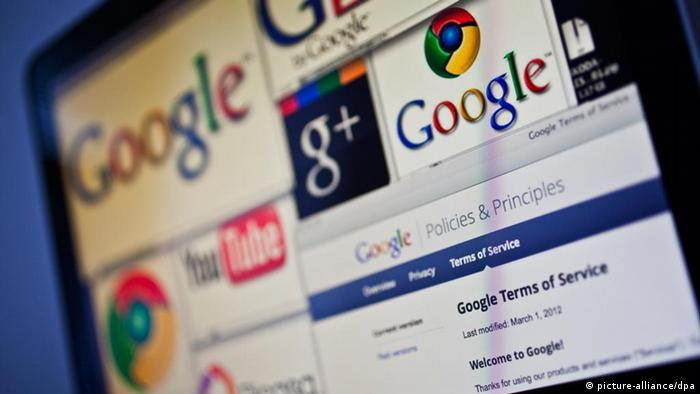 Google, GMail, Google Plus, Google Chrome, Picasa, YouTube, new Terms and Conditions. (CTK Photo/Rene Fluger)
