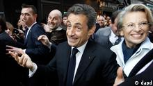 France's President and Candidate for the Presidential Election 2012, Nicolas Sarkozy goes for a walkabout in Bayonne, southwestern France, Thursday, March 1, 2012. (Foto:Bob Edme/AP/dapd)