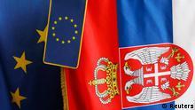 Serbien EU Flagge