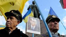 Ukraine Nationalistenführer Stephan Bandera Demonstration in Kiew