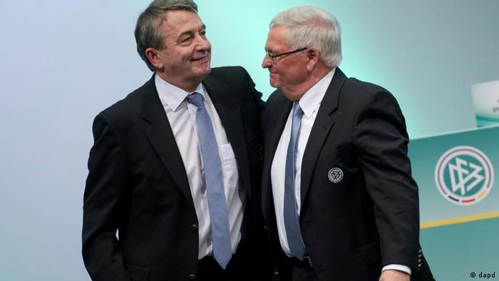 Der neu gewaehlte DFB-Praesidenten Wolfgang Niersbach