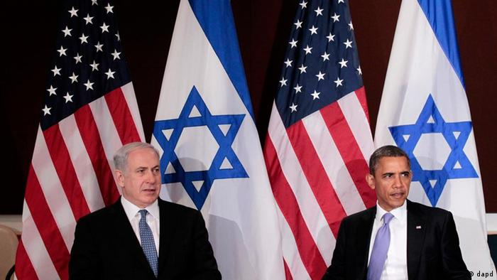 President Barack Obama meets with Israeli Prime Minister Benjamin Netanyahu at the UN Building, Wednesday, Sept., 21, 2011. (AP Photo/Pablo Martinez Monsivais).