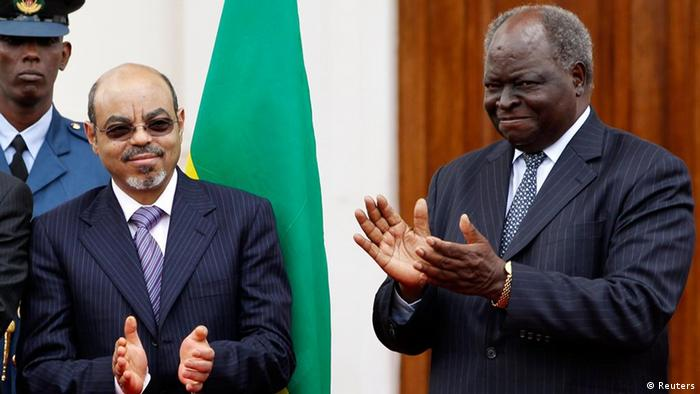 Kenya's former President Mwai Kibaki and late Ethiopian Prime Minister Meles Zenawi
