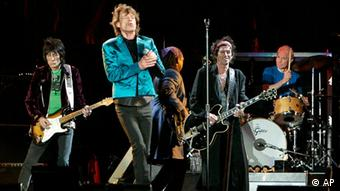The Rolling Stones perform at Gillette Stadium in Foxborough, Mass., on Wednesday, Sept. 20, 2006 as they kick off the second half of their A Bigger Bang Tour in the United States. (AP Photo/Robert E. Klein)