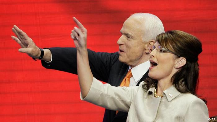 John McCain and Sarah Palin in 2008