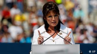 Sarah Palin bei einer Rede (Foto: AP Photo/Alex Brandon)