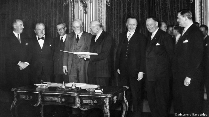 Unterzeichnung Montanunion 1951