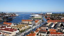 Übersichtsaufnahme von Kopenhagen, Dänemark. Bild: Fotolia/Torsten Rauhut #26823140