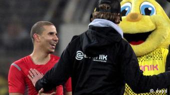 Zidan, Klopp and the Dortmund mascot