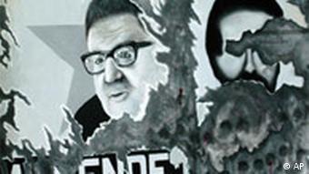 Militärputsch in Chile Ausschnitt Gemälde Salvador Allende