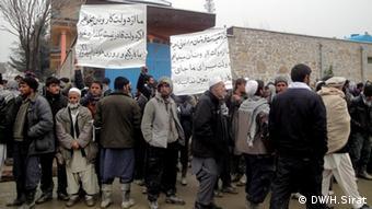 در ماه مارچ کارگران در کابل در اعتراض به بیکاری، تظاهرات کردند.