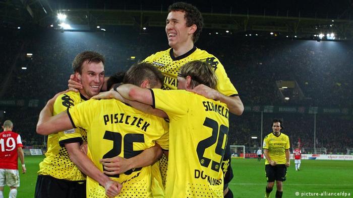 Dortmund players celebrate