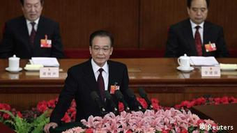 Wen Jiabao delivered his last government work report at this year's opening ceremony