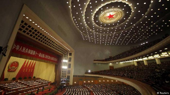 A general view shows the opening ceremony of the National People's Congress (NPC) at the Great Hall of the People in Beijing March 5, 2012. REUTERS/Jason Lee