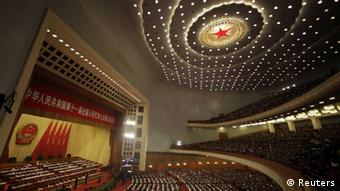 A general view shows the opening ceremony of the National People's Congress (NPC) at the Great Hall of the People in Beijing March 5, 2012. REUTERS/Jason Lee (CHINA - Tags: POLITICS) // eingestellt von se