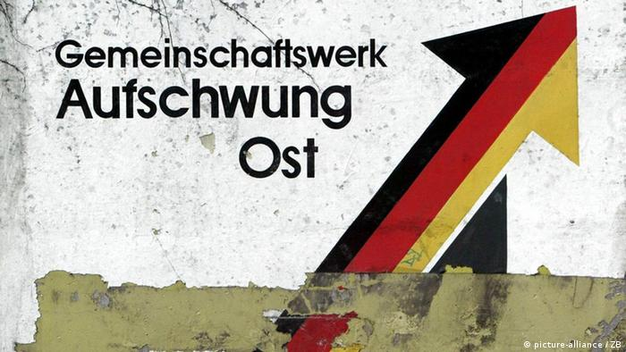 Aufschwung Ost (Upwards with the East) government poster