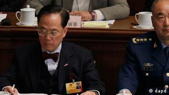 China Volkskongress in Peking eröffnet Große Halle des Volkes Hongkong Donald Tsang
