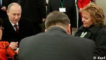 ولادیمیر پوتین، در حال رای دادن در مسکو