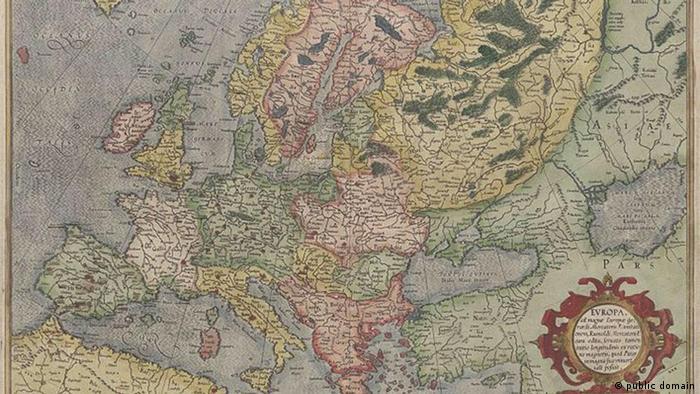 Европа. Карта Меркатора
