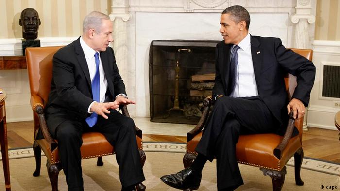 President Barack Obama meets with Israeli Prime Minister Benjamin Netanyahu in the Oval Office at the White House in Washington, Monday, March 5, 2012.
