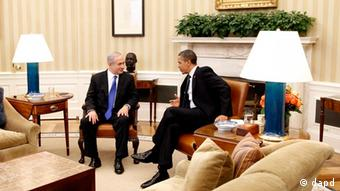 President Barack Obama meets with Israeli Prime Minister Benjamin Netanyahu in the Oval Office at the White House in Washington, Monday, March 5, 2012. (Foto:Pablo Martinez Monsivais/AP/dapd)