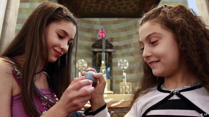 Christen in Syrien christliche Mädchen Ostern