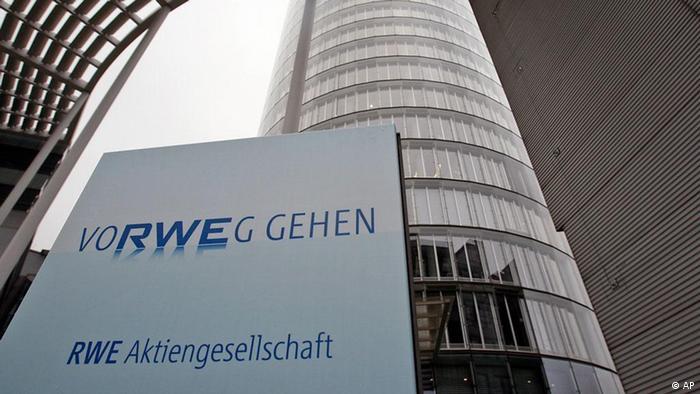 RWE Logo vor der Unternehmenszentrale (Foto: dapd)