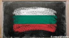 Symbolbild Bulgarien bemalte Tafel Flagge
