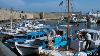 Ansicht des Hafens von Rhodos