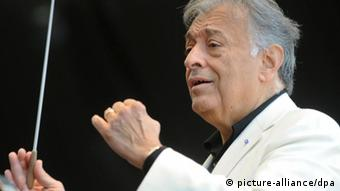 Indian-born maestro Zubin Metha during a concert in Buenos Aires. (Photo: dpa)