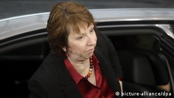 EU foreign policy chief Catherine Ashton arrives for the EU Summit in Brussels on Friday, March 2, 2012. (CTK Photo/Jakub Dospiva)