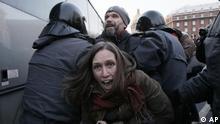 Wahlen Russland Proteste Demonstrationen Demonstranten St. Petersburg
