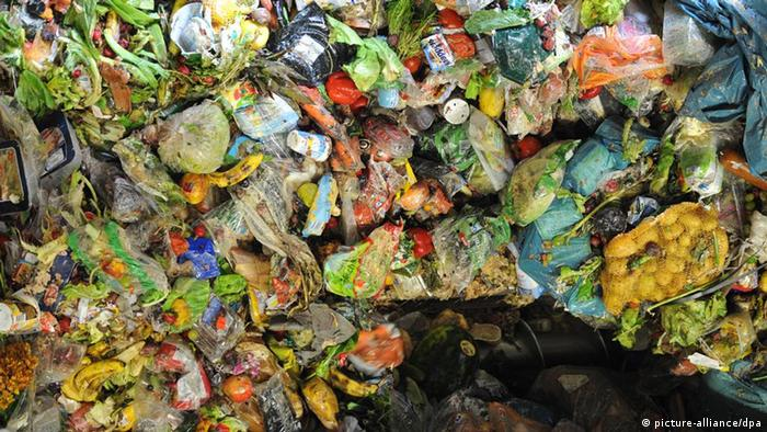 food waste waiting to be transformed into biogas